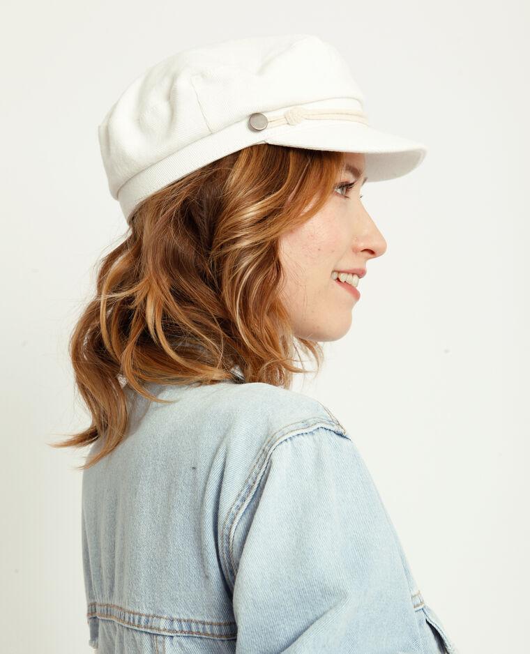 Cappellino da monello bianco sporco