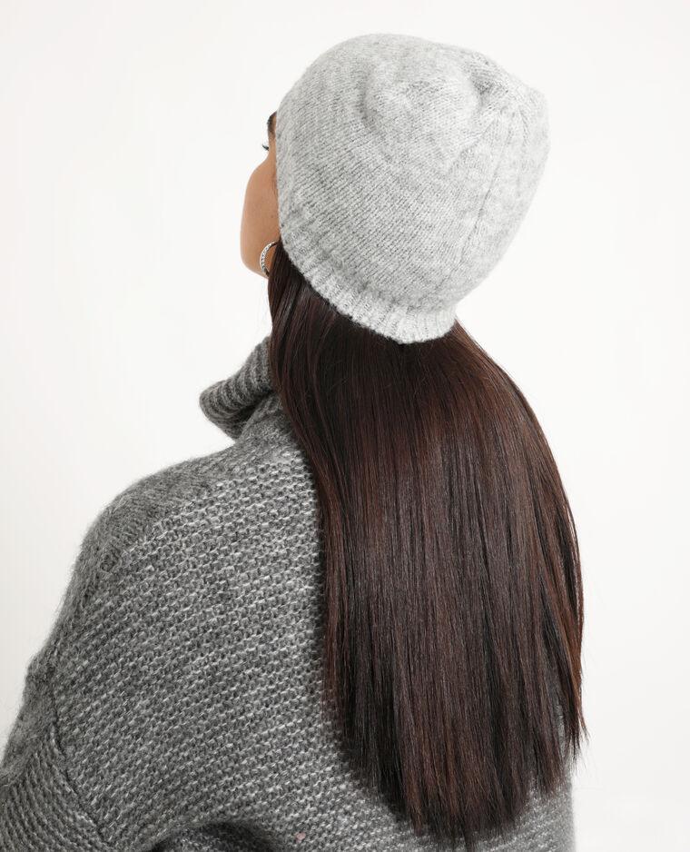 Berretto morbido grigio chiné
