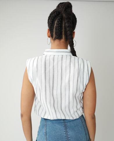 Camicia con spalline bianco sporco - Pimkie