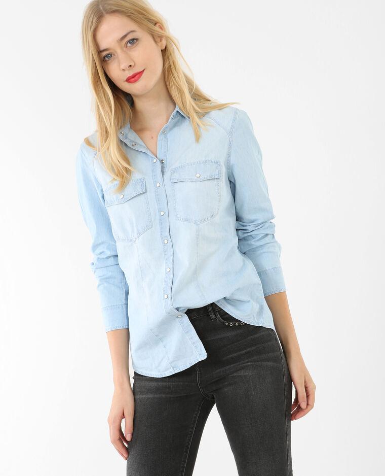 Camicia denim blu