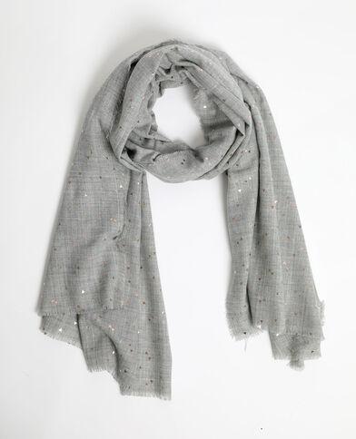 Sciarpa leggera grigio chiné