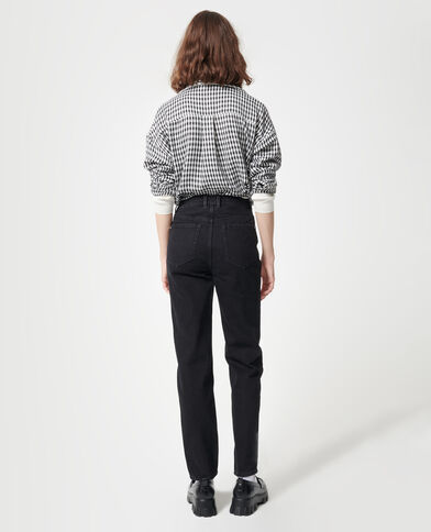 Jeans a vita alta nero - Pimkie