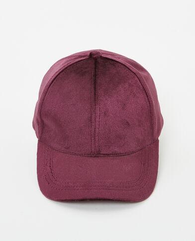 Cappellino velluto granata