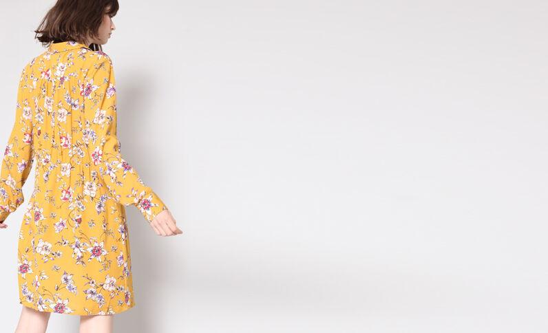 Vestito a fiori giallo