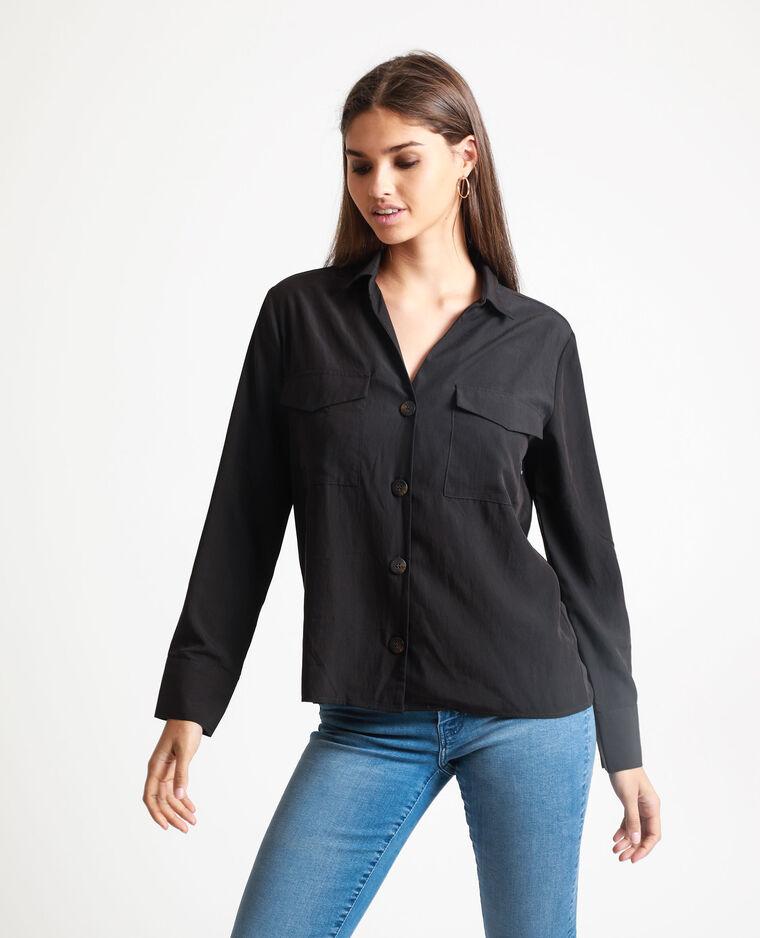 Camicia squadrata nero