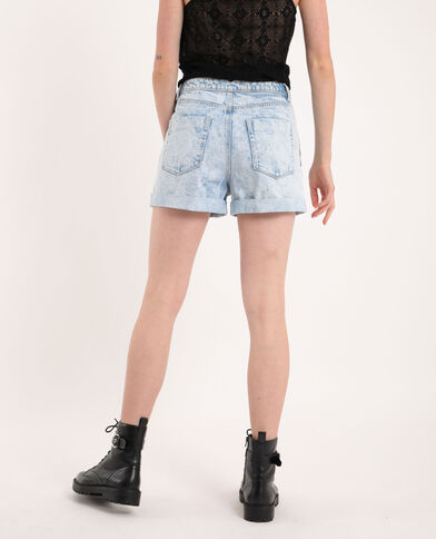 Short di jeans effetto délavé blu chiaro