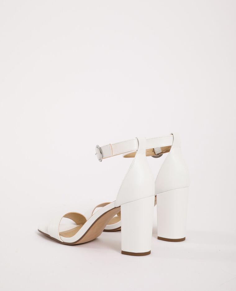 Sandali con tacco alto écru