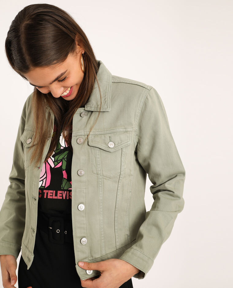 Giacca di jeans verdeg