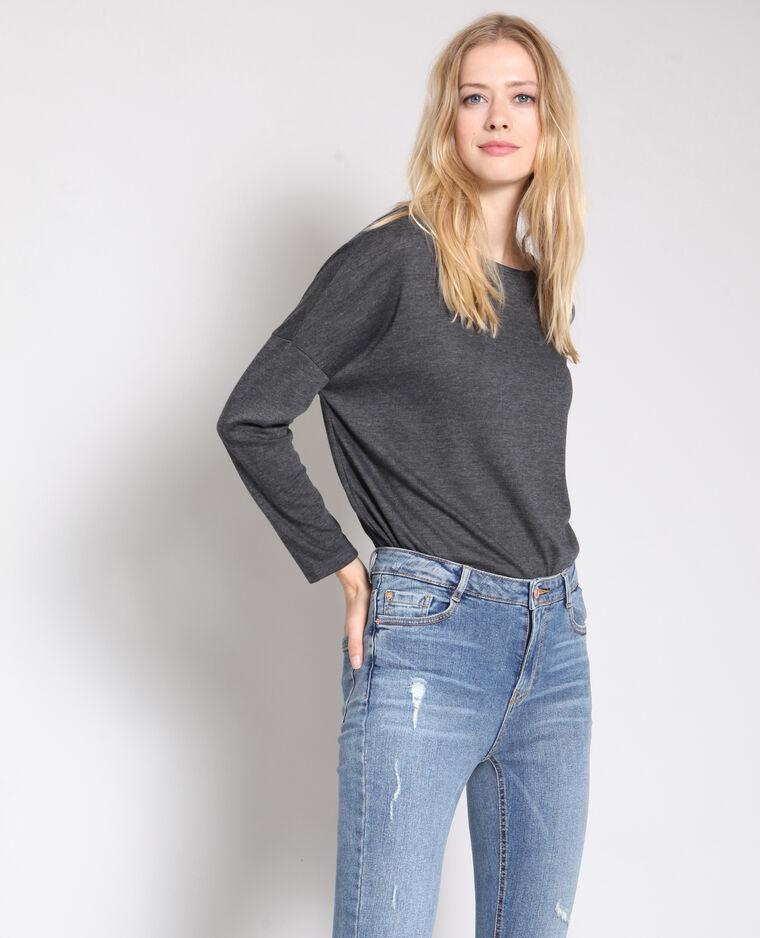 - T-shirt maniche lunghe grigio