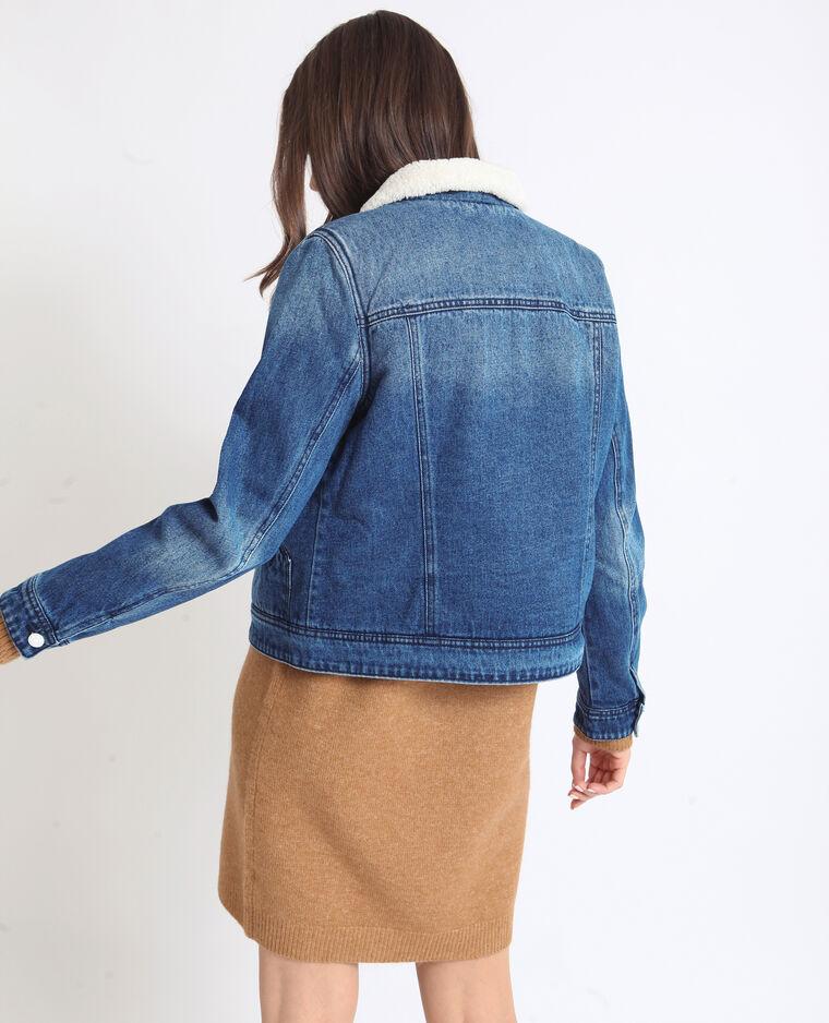 33f6ac6998615 Giacca in jeans imbottita blu denim - 323313683A06