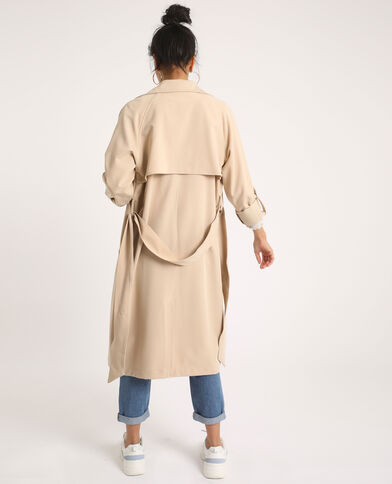 Trench morbido beige