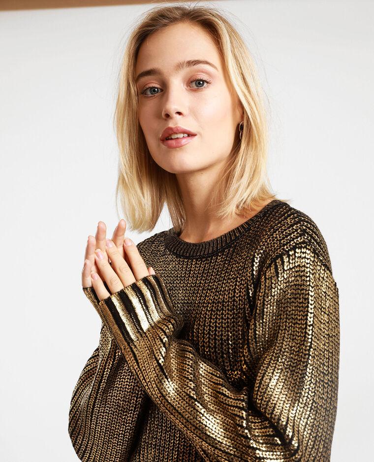 Pull brillante dorato