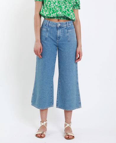 9b1f51a93505 Jeans wide leg blu delavato