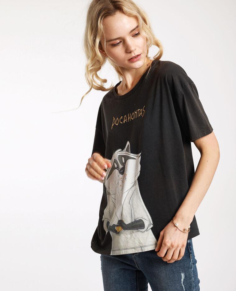 T-shirt Pocahontas grigio