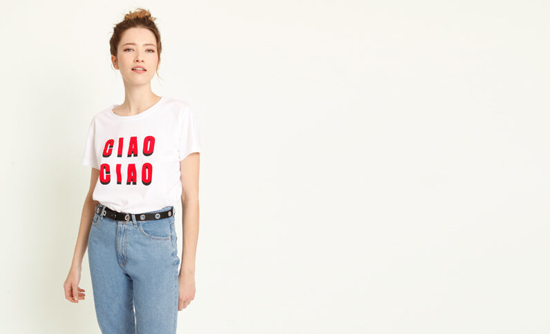 T-shirt Ciao Ciao bianco