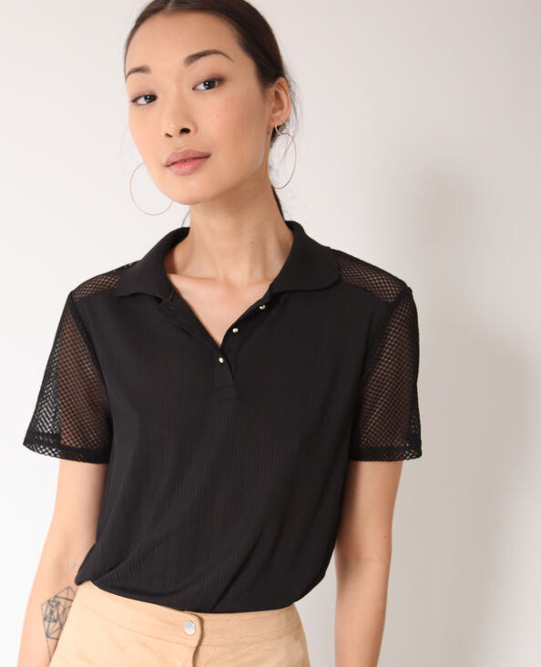 T-shirt polo nero