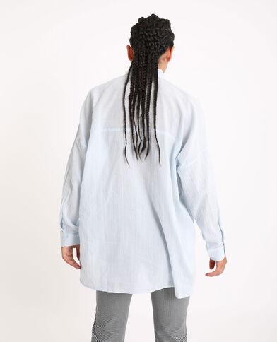 Camicia oversize. blu cielo