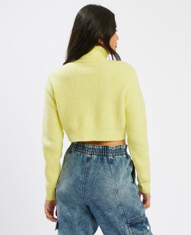 Pull corto con collo dolcevita giallo - Pimkie