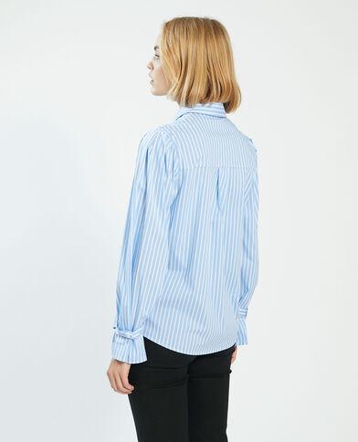 Camicia oversize a righe bianco - Pimkie