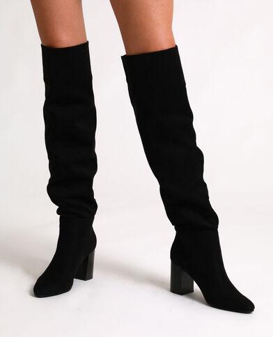Stivali a mezza coscia con tacchi alti nero