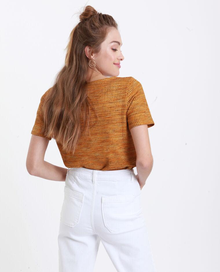 T-Shirt a nido d'ape giallo
