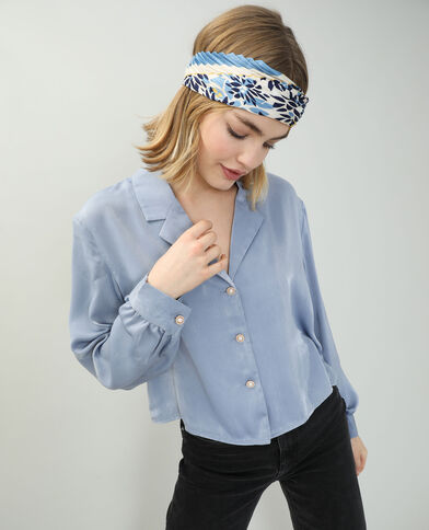 Camicia satinata blu - Pimkie