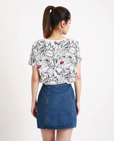 T-shirt stampata BD bianco