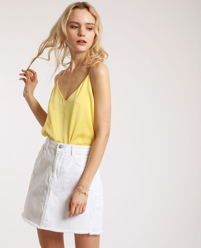 Top morbido giallo