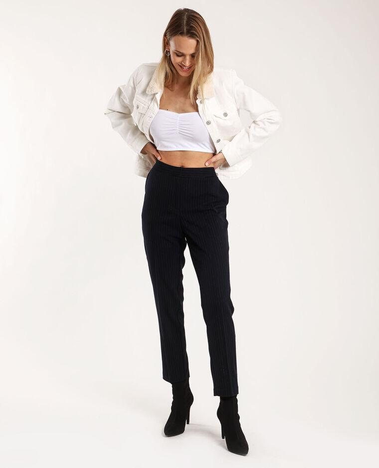 Pantalone a righe blu