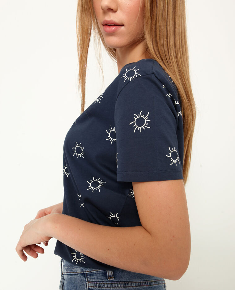 T-shirt stampata blu marino