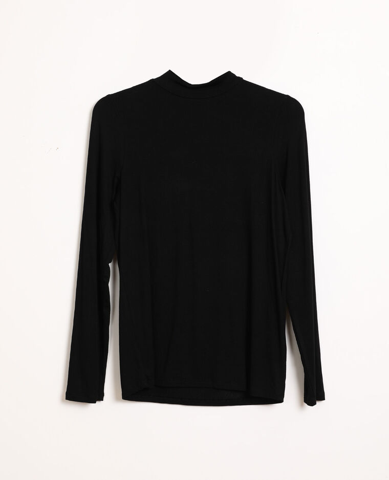 T-shirt a collo alto nero - Pimkie