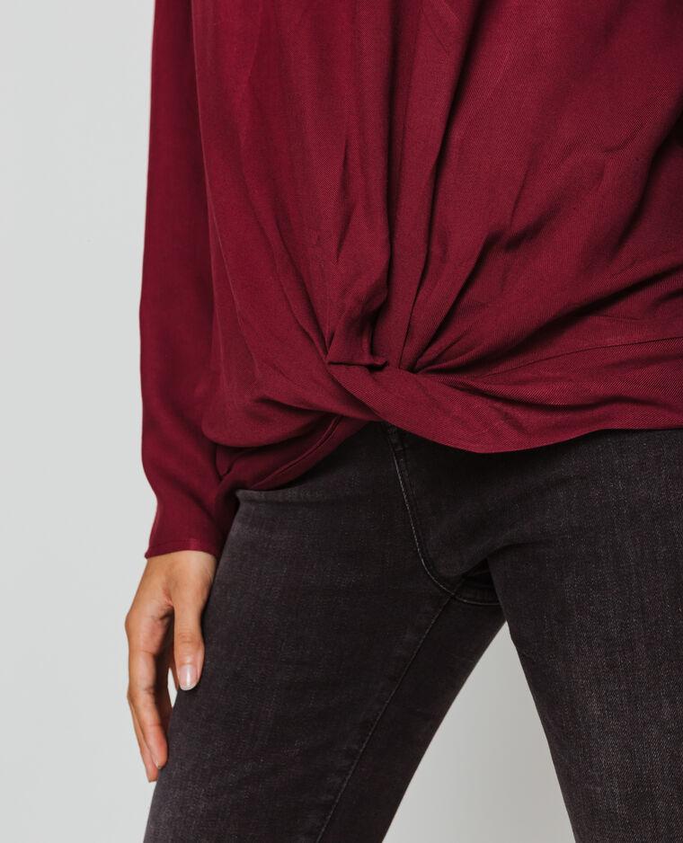 Blusa maniche lunghe bordeaux
