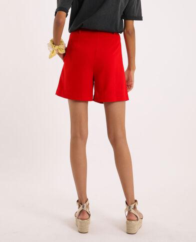 Short con pieghe Rosso