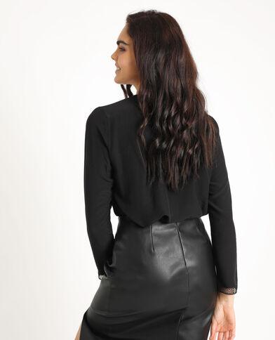 Camicia morbida abbottonata. nero