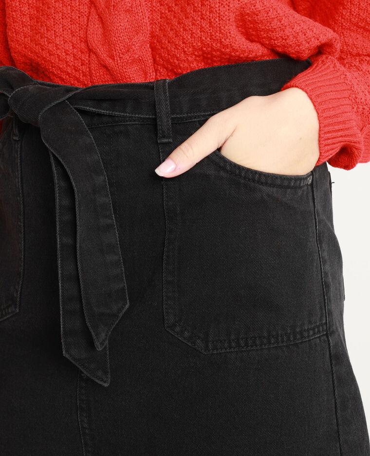 Gonna in jeans con cintura nero