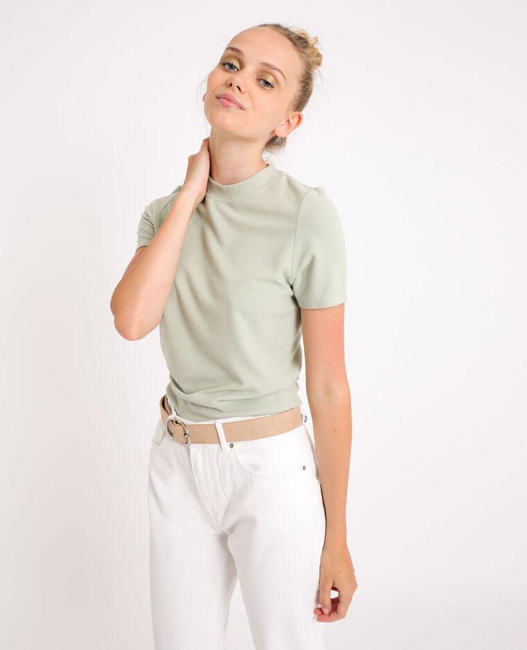 T-shirt morbida verde