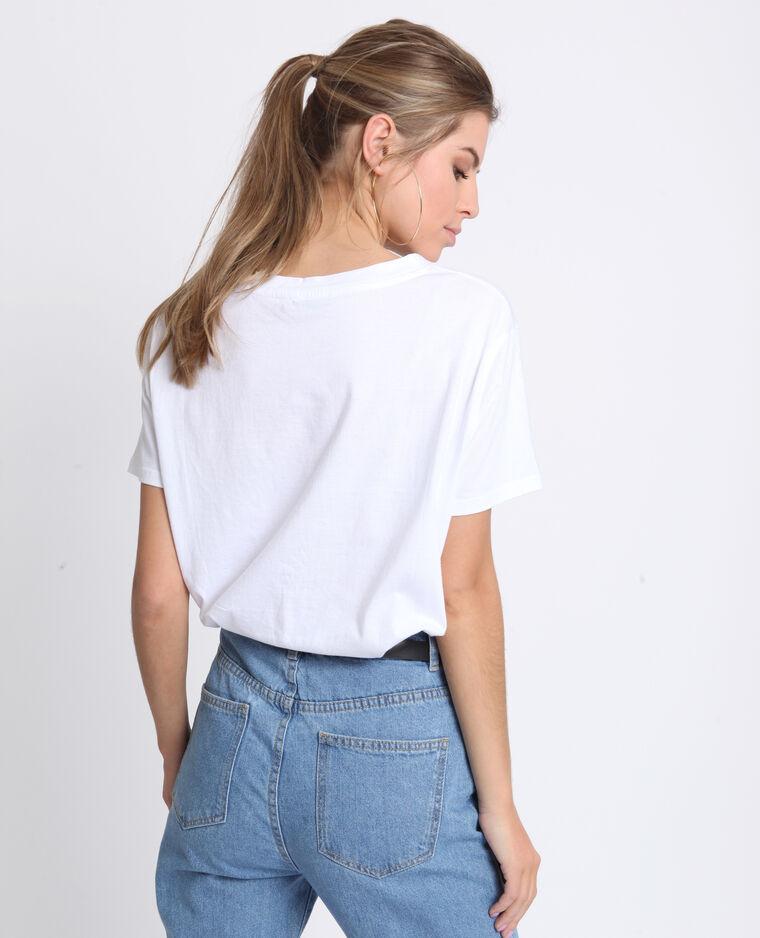 T-shirt mon cœur bianco