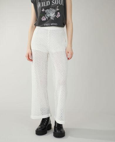 Pantalone all'uncinetto bianco sporco - Pimkie