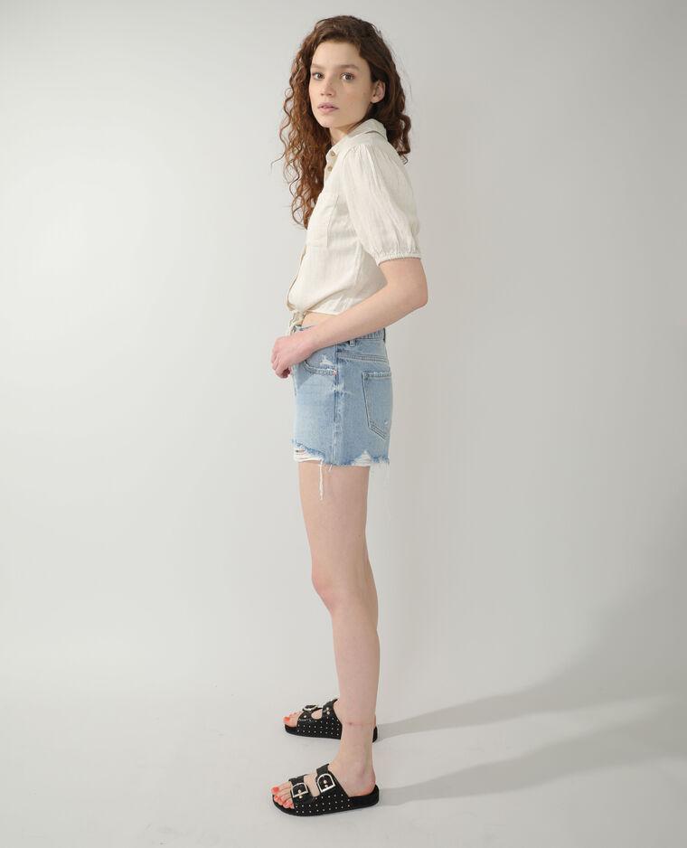 Short di jeans destroy blu chiaro - Pimkie