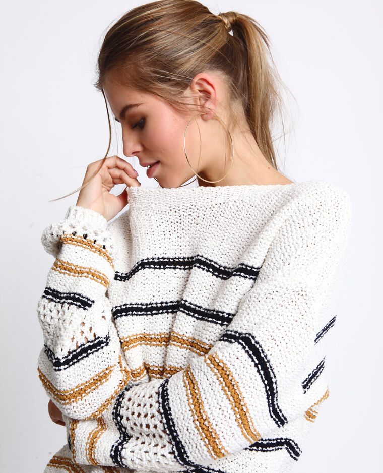 Pull a righe bianco