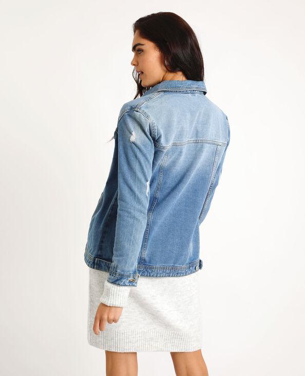 Giacca in jeans larga blu denim