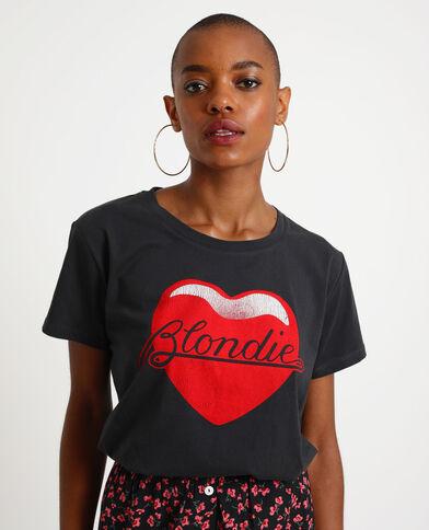 T-shirt Blondie nero