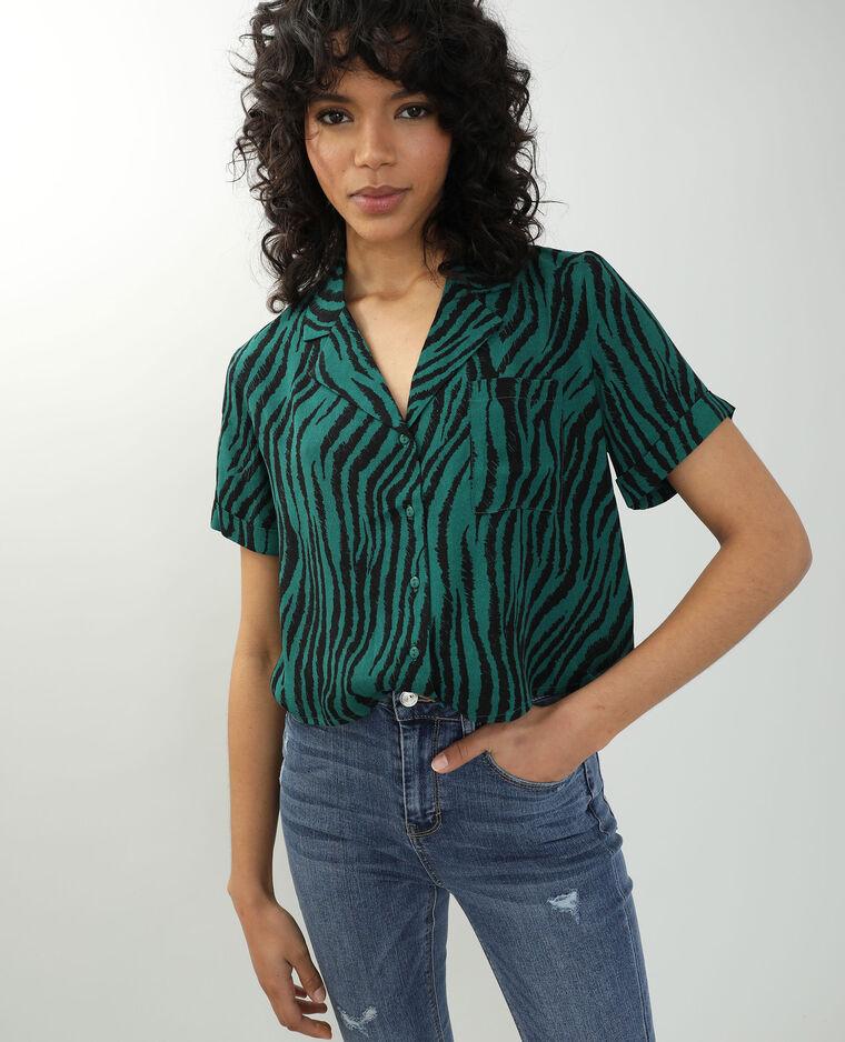 Camicia tigrata nero + verde