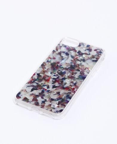 Cover multicolore compatibile con iPhone blu marino