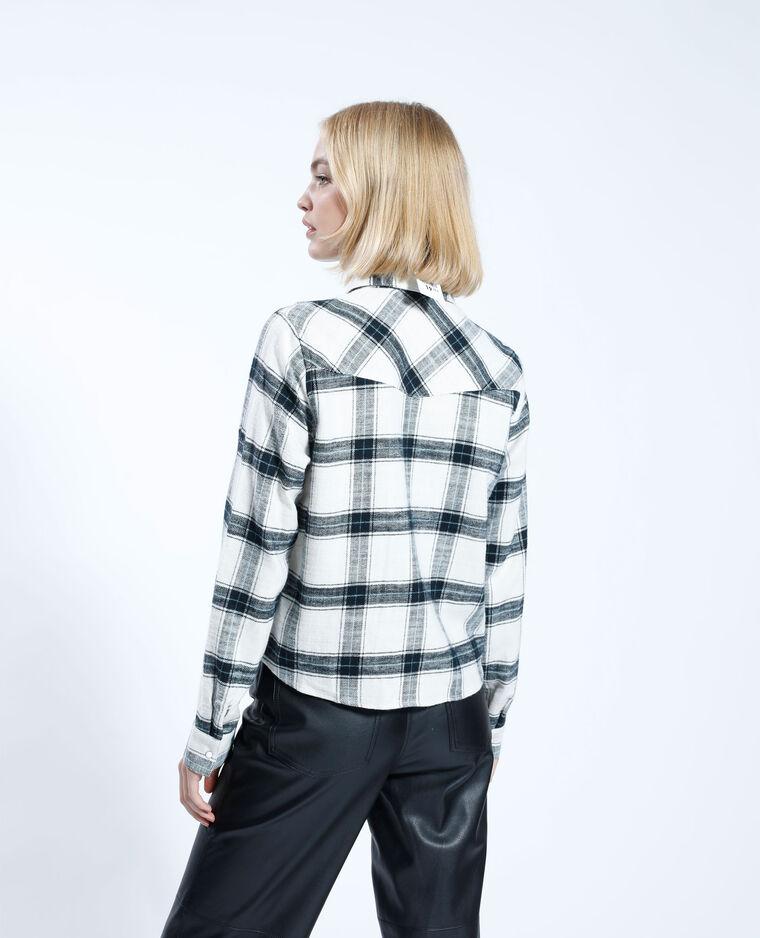 Giacca camicia cropped a quadri bianco - Pimkie