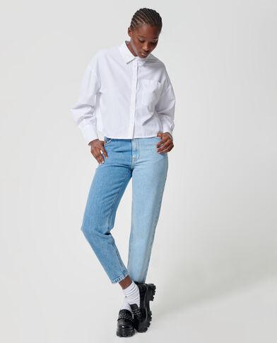 Jeans bicolore blu denim - Pimkie