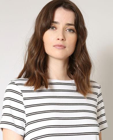T-shirt a righe écru