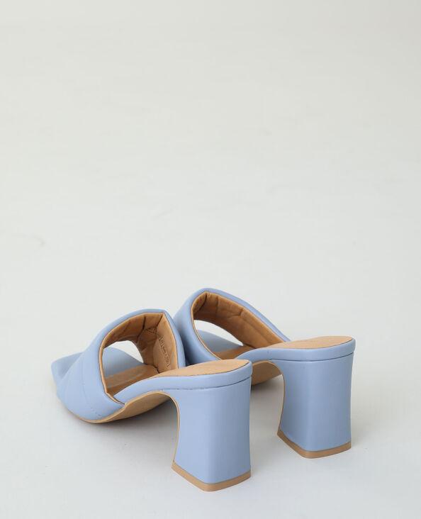 Sabot con tacco acquamarina - Pimkie