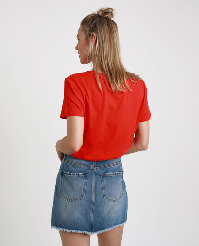 T-shirt stampata rosso