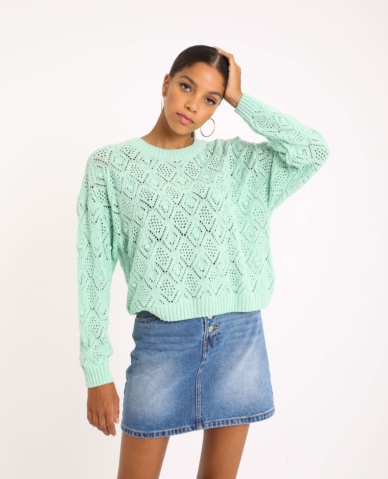 Pull in maglia fantasia verde